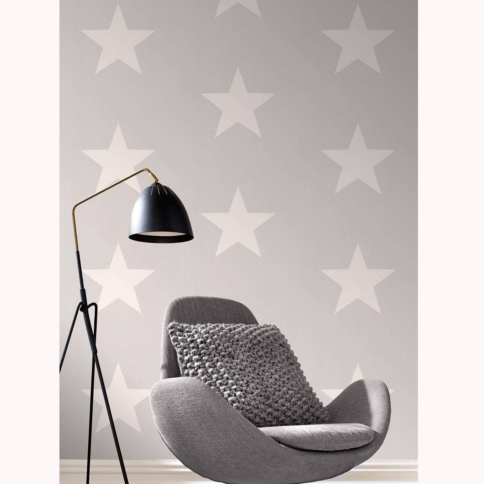 rasch sterne tapete rolls wei grau 248128 new ebay. Black Bedroom Furniture Sets. Home Design Ideas