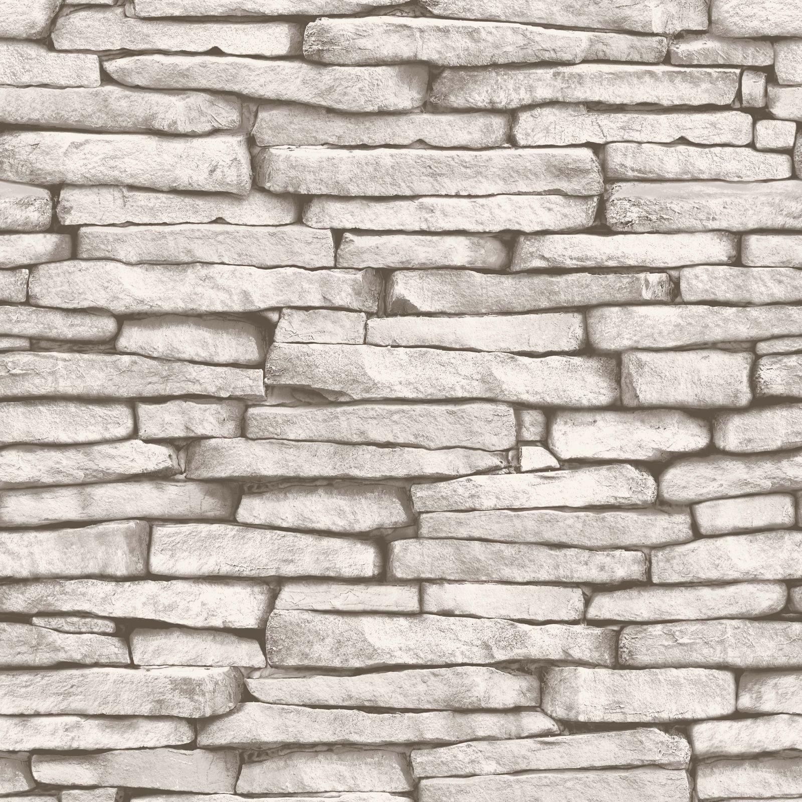 Schwarze Backstein Tapete : Details zu Luxus Tapete 10m – Stein Ziegelstein Holz Schiefer Optik