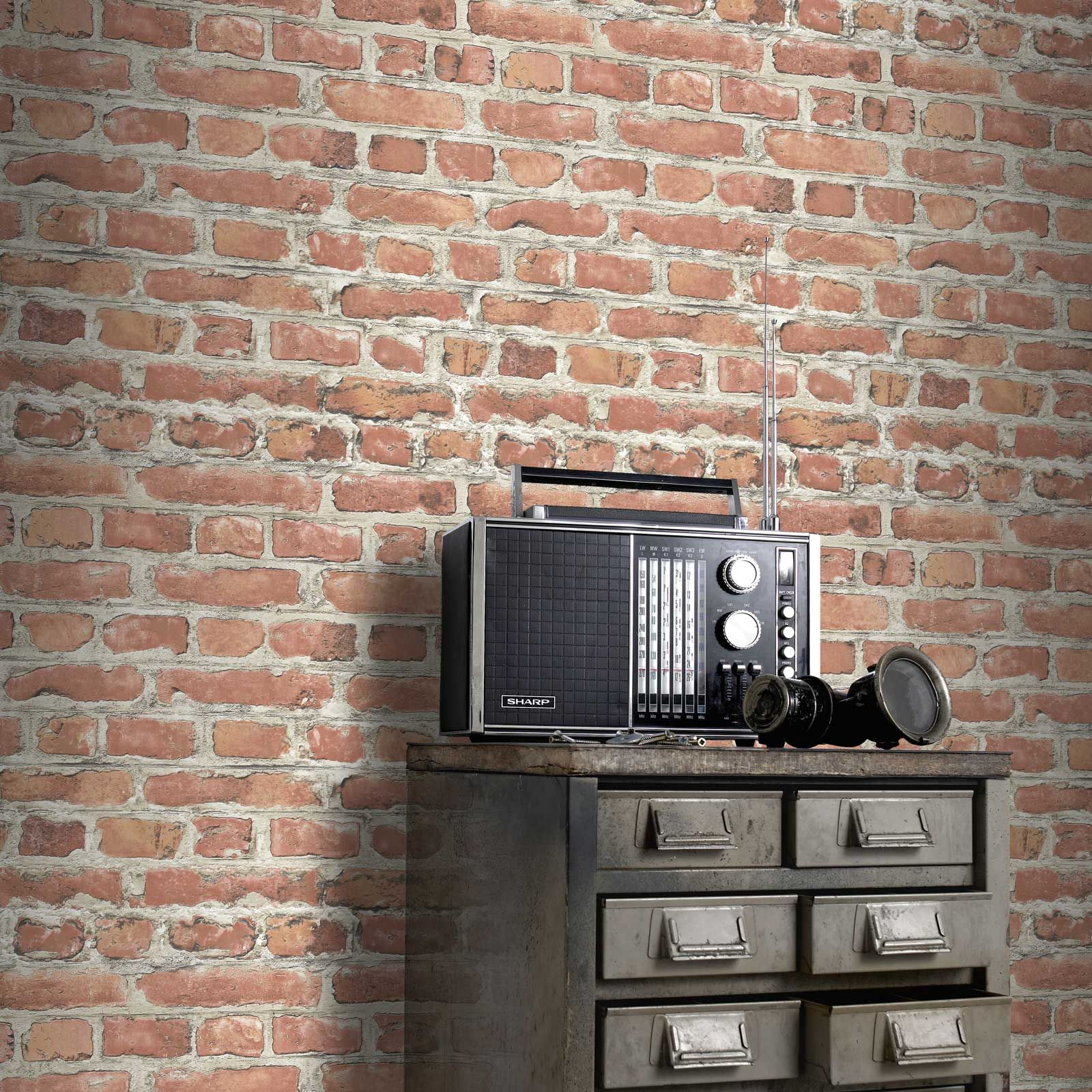 Rasch Red Brick Effect Wallpaper Rolls 235203 New Feature Wall Ebay
