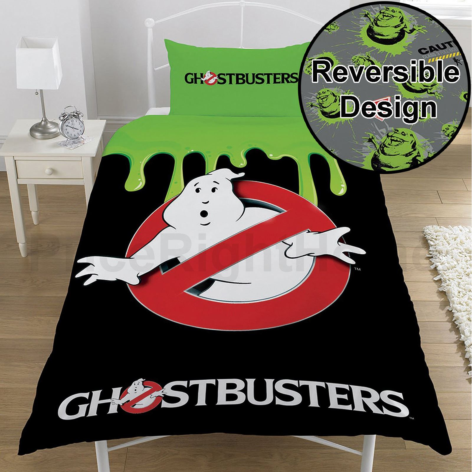 Details about ghostbusters single duvet cover set official bedding