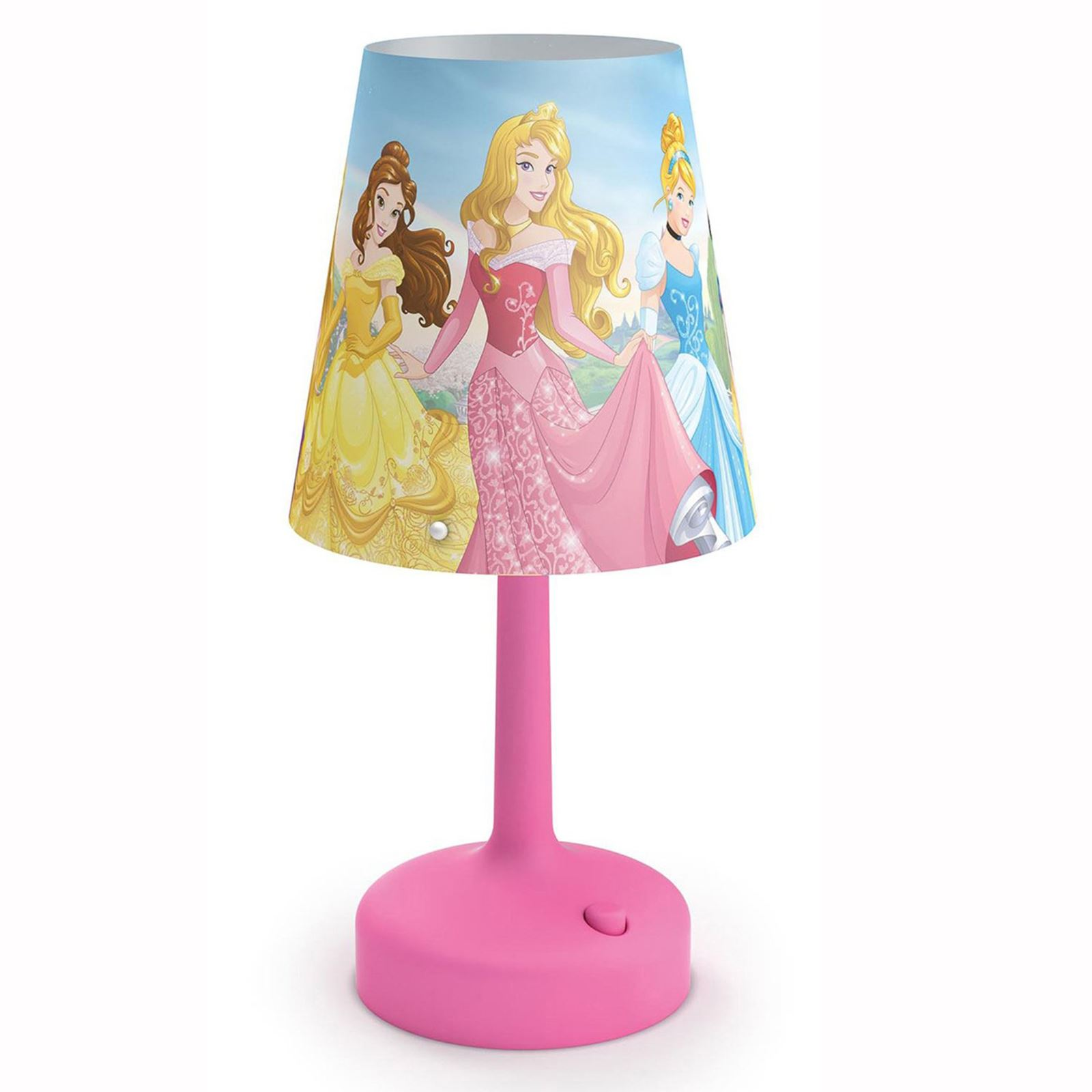 Disney Princess Portable Table Lamp Kids Bedroom Lighting