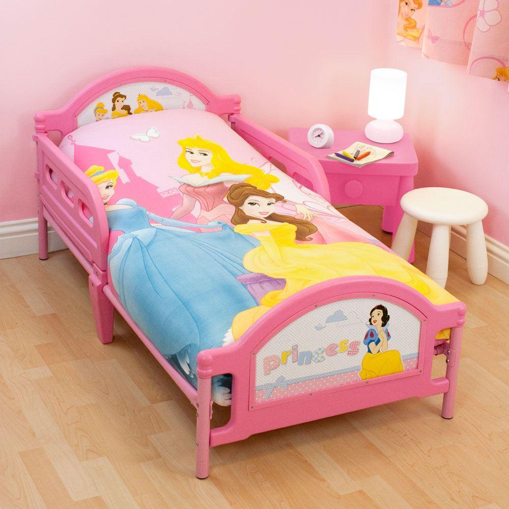Disney princess toddler bed new cot girls pink ebay - Princess bed for toddler girl ...