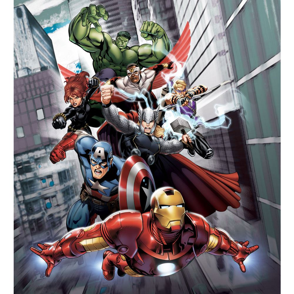 Marvel comics and avengers wallpaper wall murals d cor for Avengers mural poster