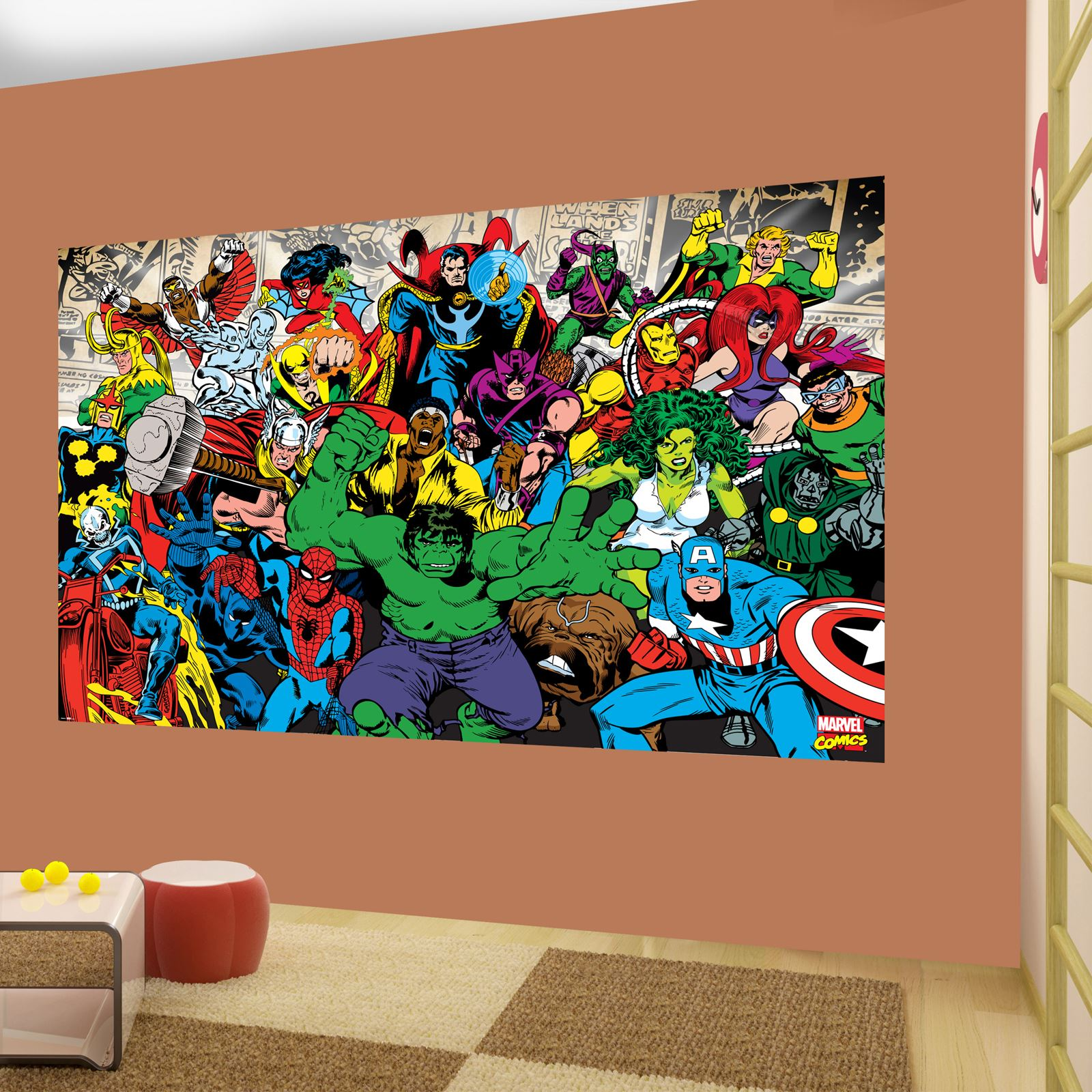 Large wallpaper decor wall murals disney football kids for Disney mural wallpaper
