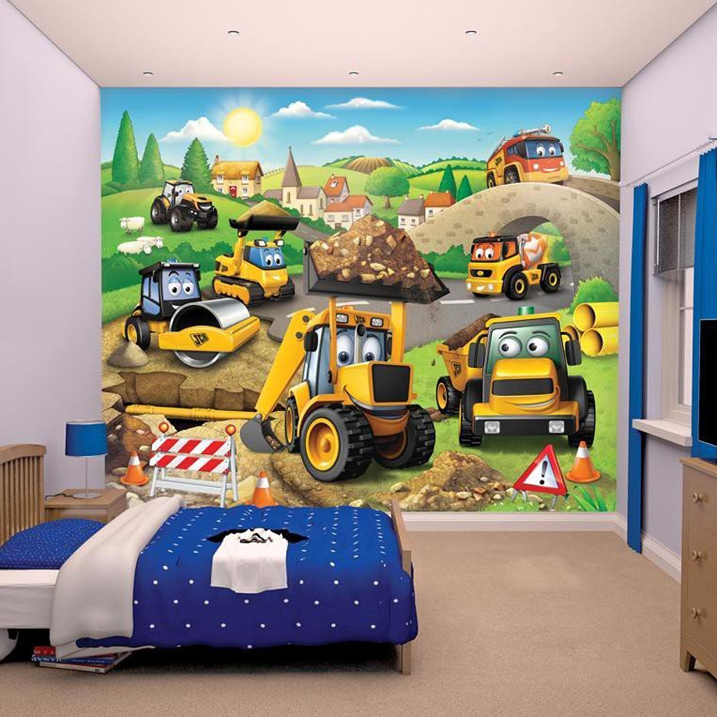WALLTASTIC WALLPAPER WALL MURALS KIDS BEDROOM – PEPPA ...
