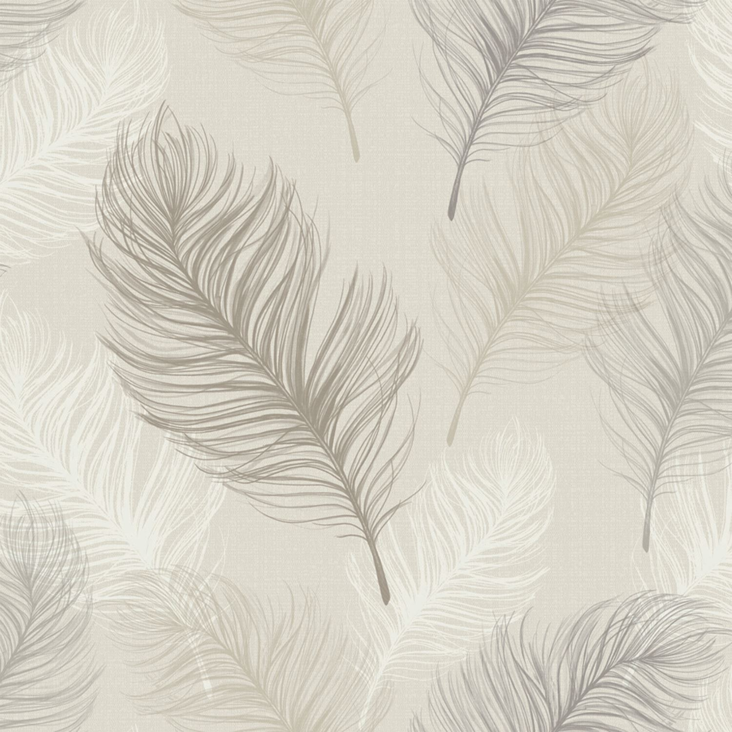 Girls bedroom wall stickers - Feather Wallpaper Rolls Taupe Arthouse 669802 Bedroom Wall Decor