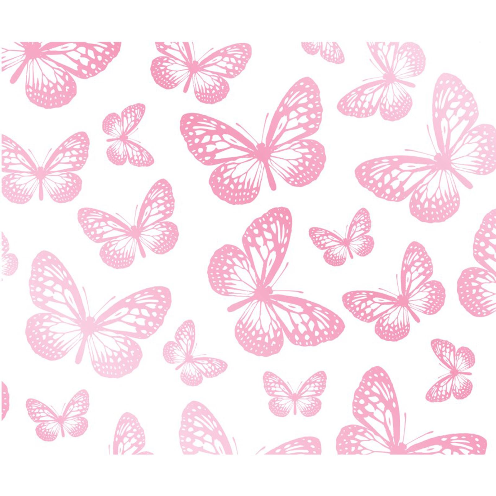 butterfly wallpaper white pink fd40275 new butterflies. Black Bedroom Furniture Sets. Home Design Ideas