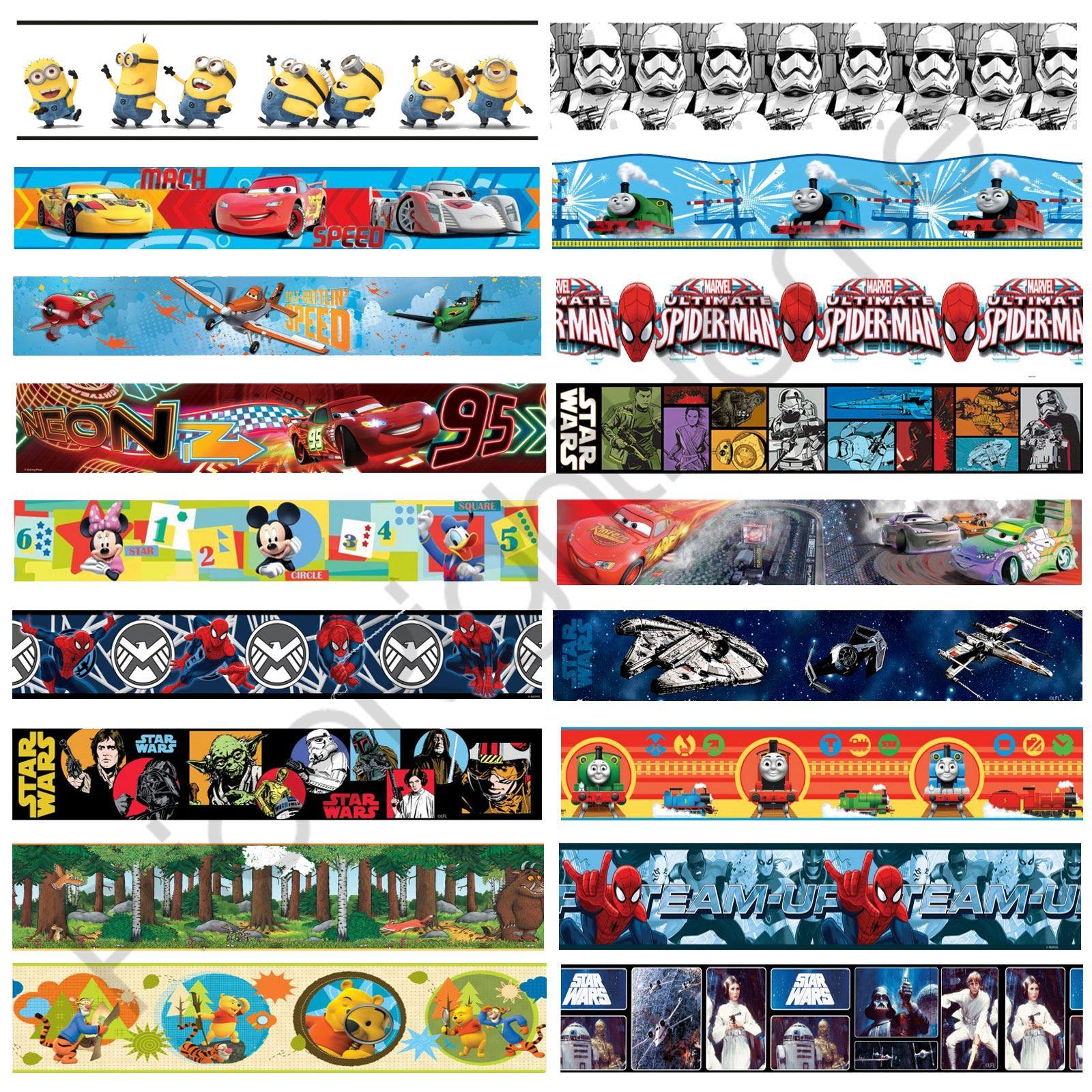 Thomas The Tank Engine Wall Stickers Boys Character Self Adhesive Wallpaper Borders Star Wars