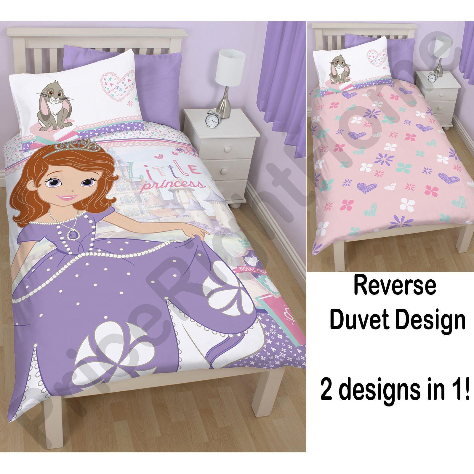 disney sofia the first bedding single double junior duvet cover sets