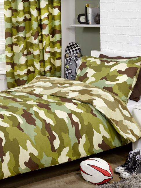 Curtains Ideas curtains matching wallpaper : ARMY CAMP CAMOUFLAGE DUVET COVERS BEDDING MATCHING CURTAINS ...