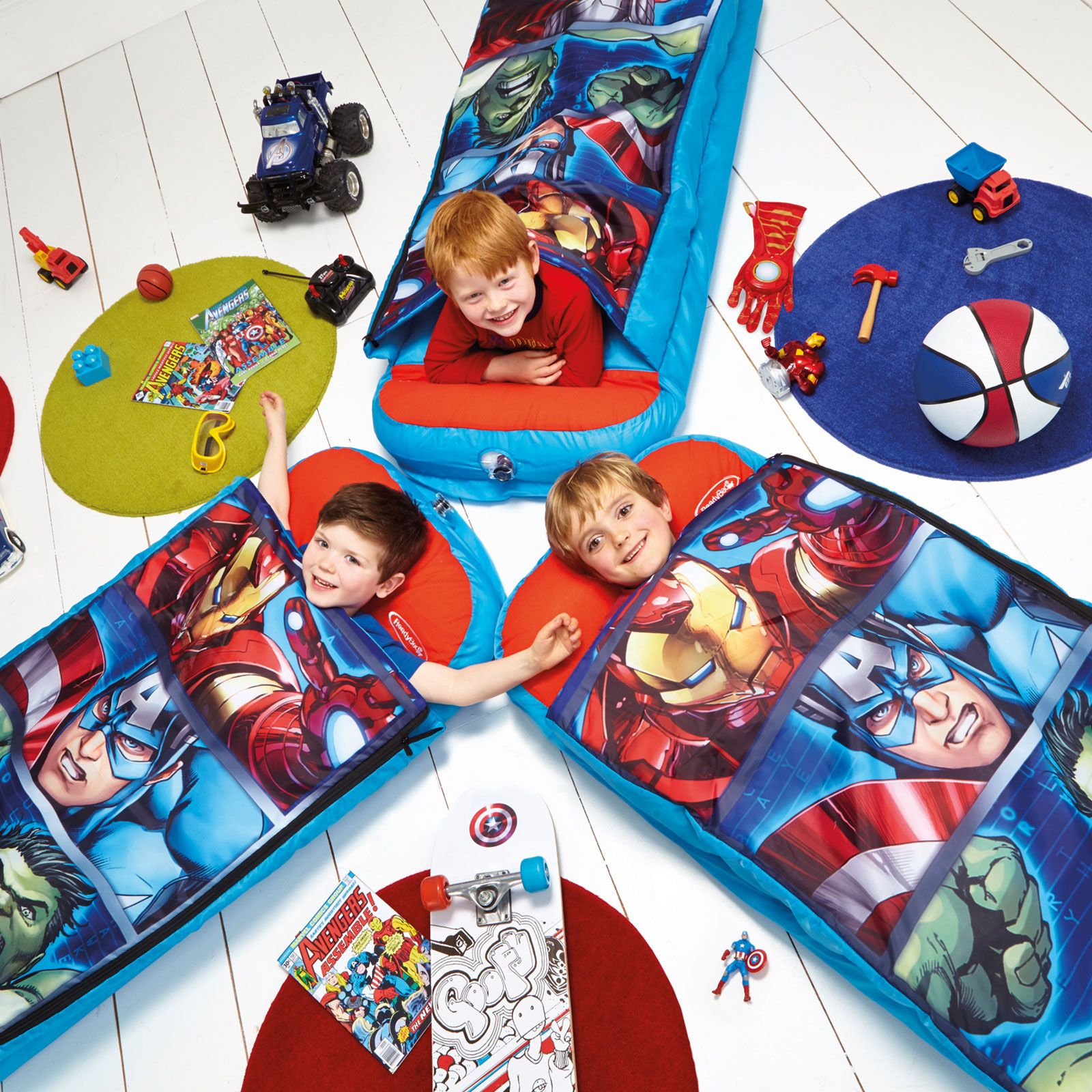 Marvel Avengers Junior Ready Bed Sleepover Solution New