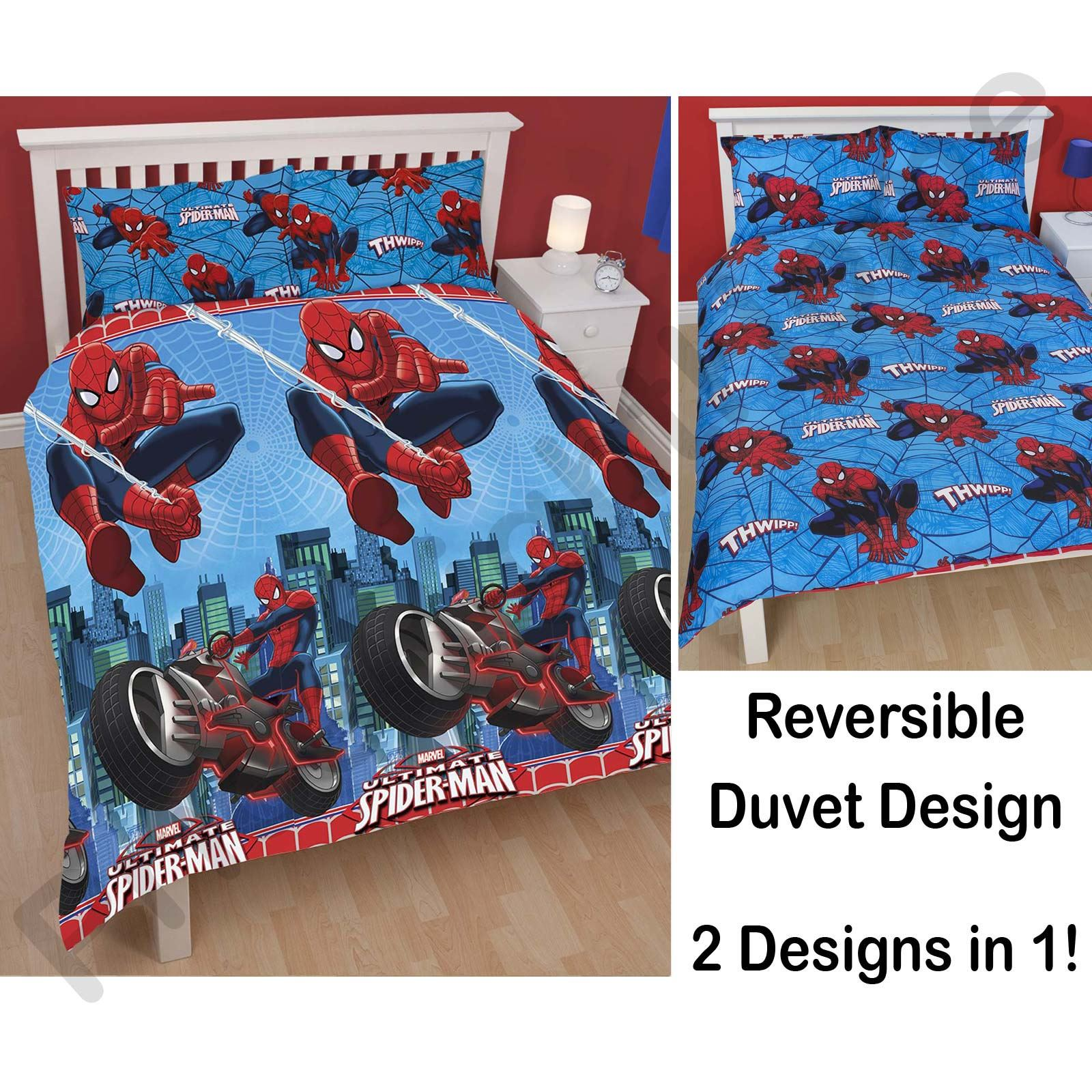 SPIDERMAN ULTIMATE CITY DOUBLE DUVET COVER NEW SPIDER MAN OFFICIAL