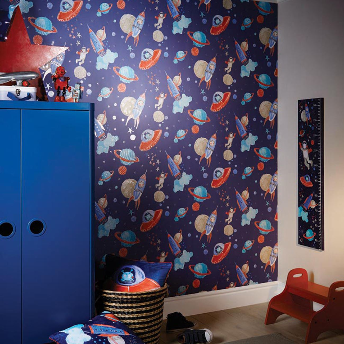 Boys Bedroom With Feature Wallpaper: ARTHOUSE GLITTER DETAIL KIDS GIRLS BEDROOM WALLPAPER