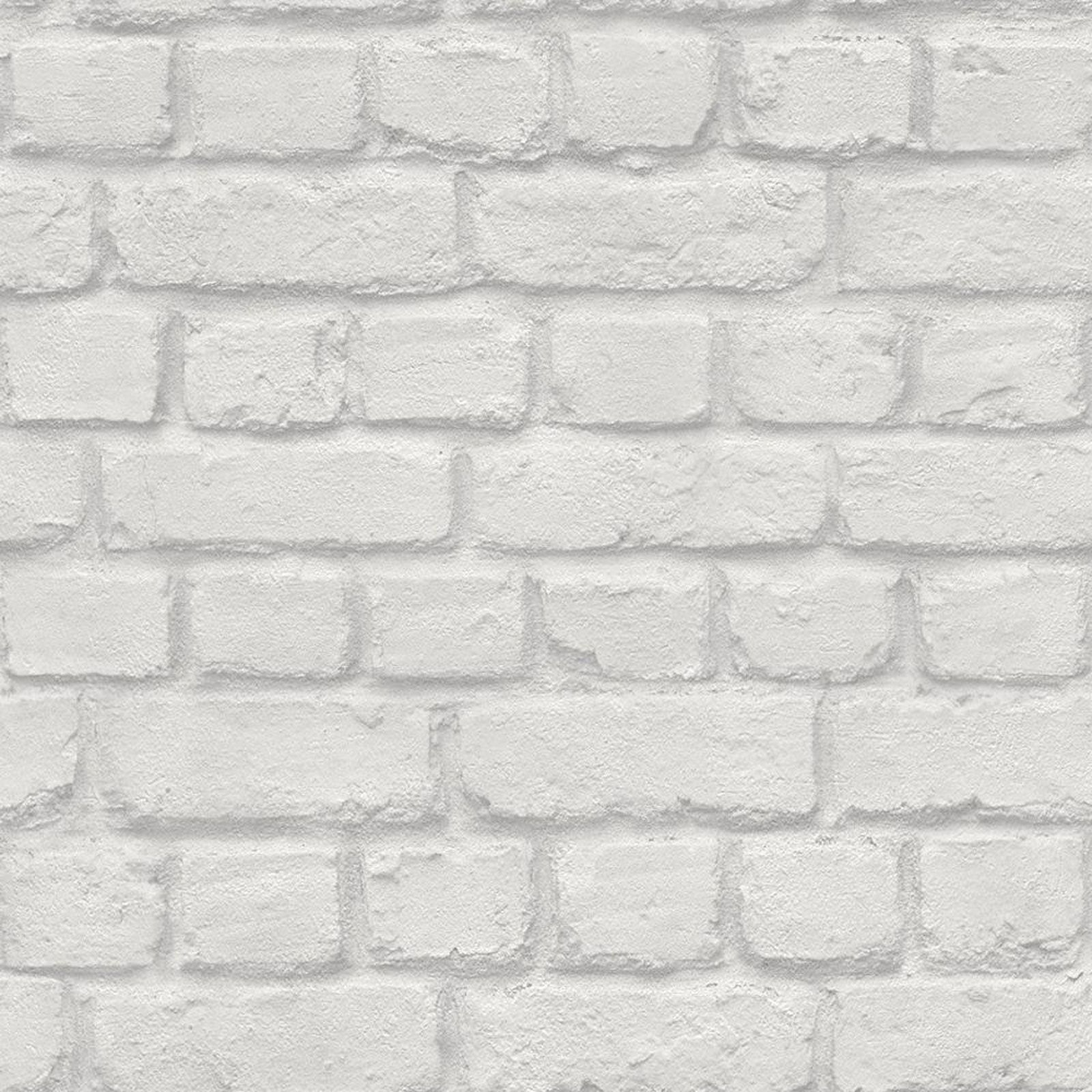 Light grey brick wall effect wallpaper rasch 226713 for Grey brick wallpaper bedroom