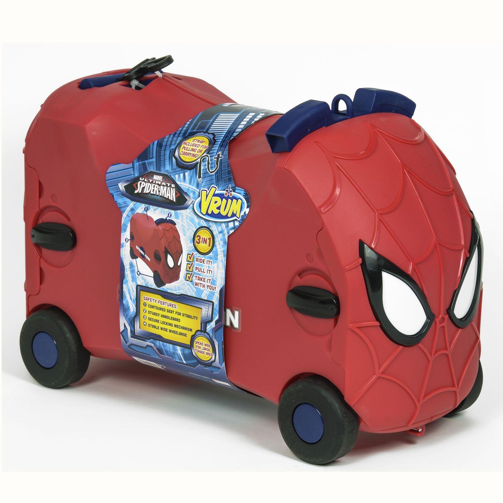 Spiderman Ride On Toy Box Amp Luggage Suitcase Vrum Like