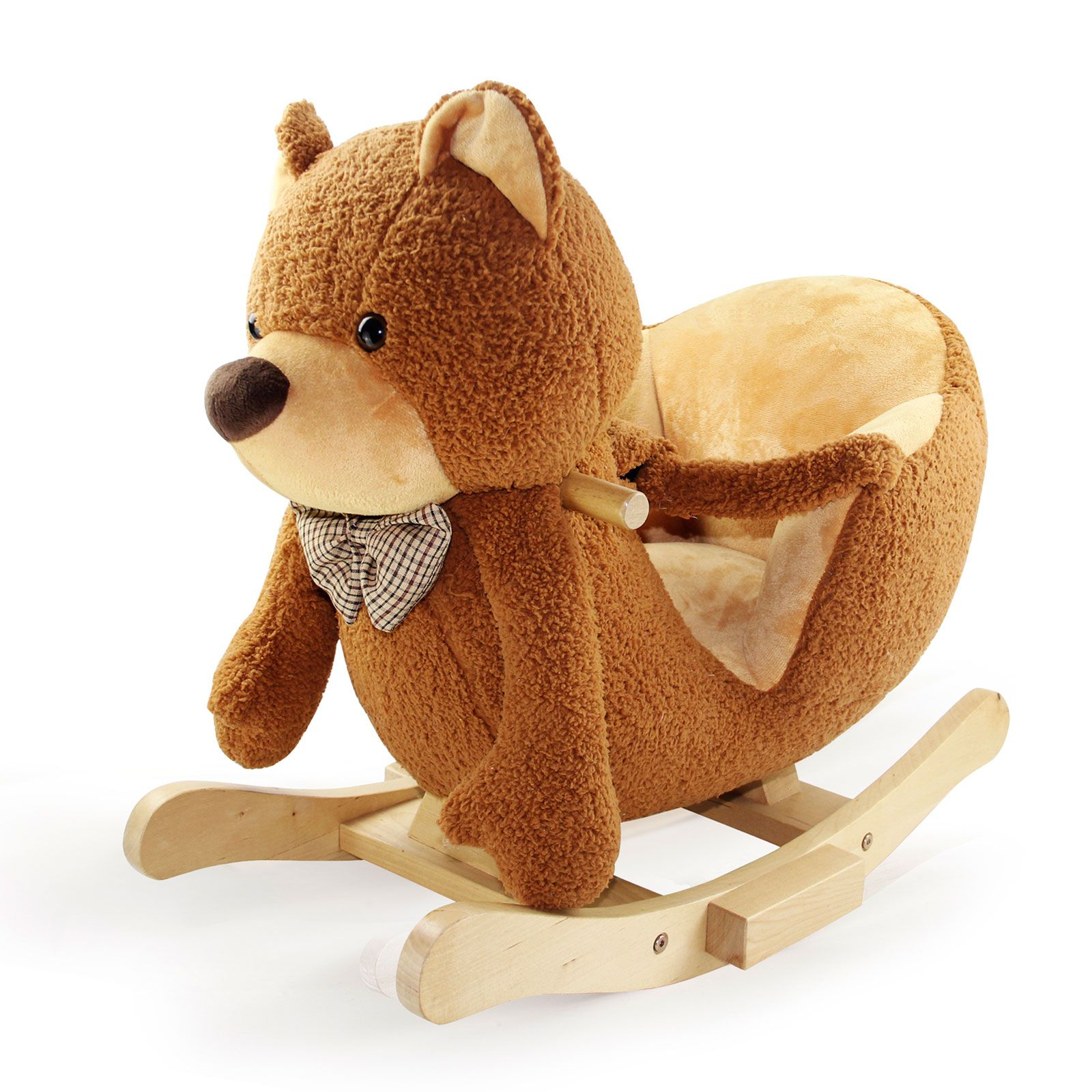 brown rocking horse rocking teddy bear chair from leomark ebay. Black Bedroom Furniture Sets. Home Design Ideas