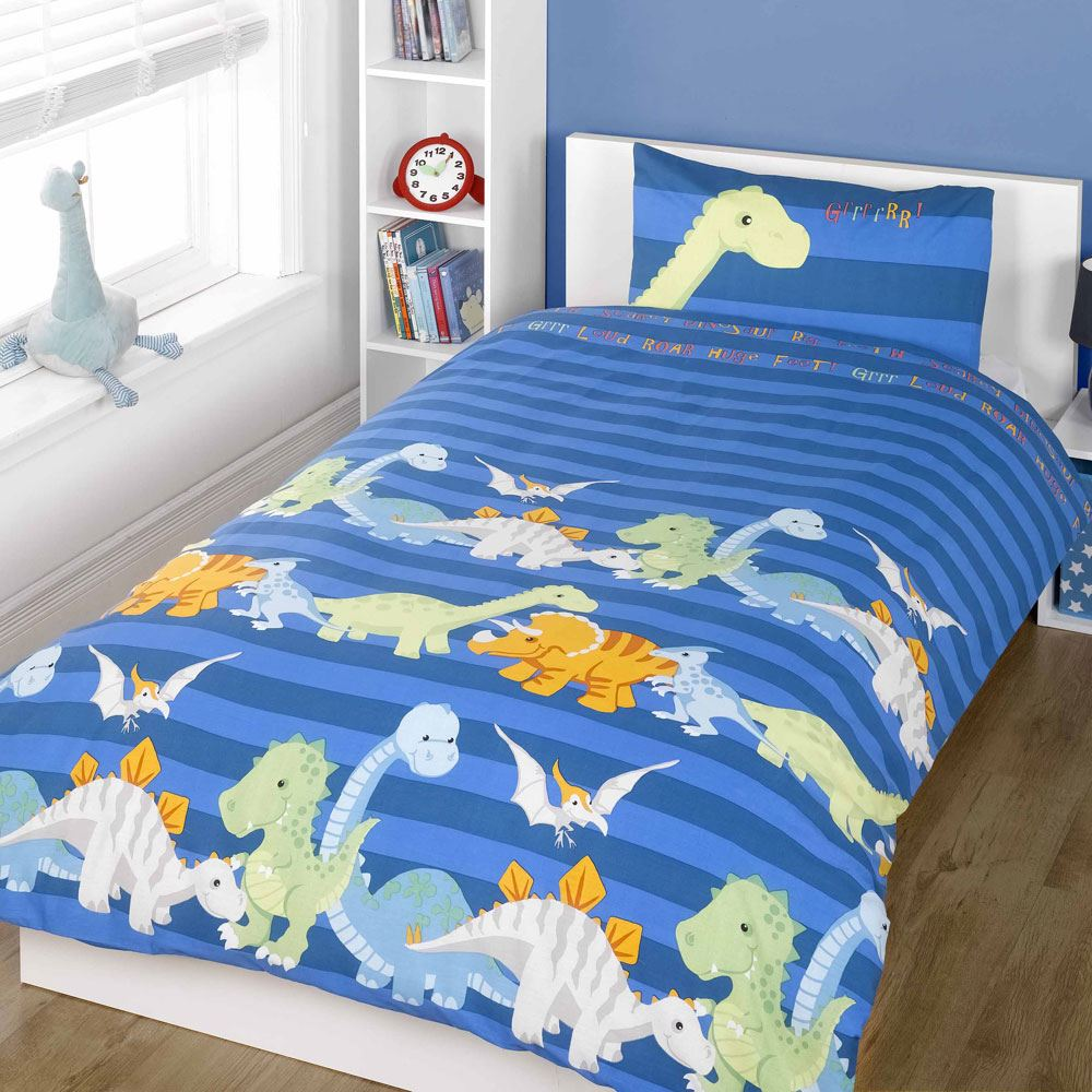 Dinosaur Design Single Duvet Cover Sets Boys Bedding