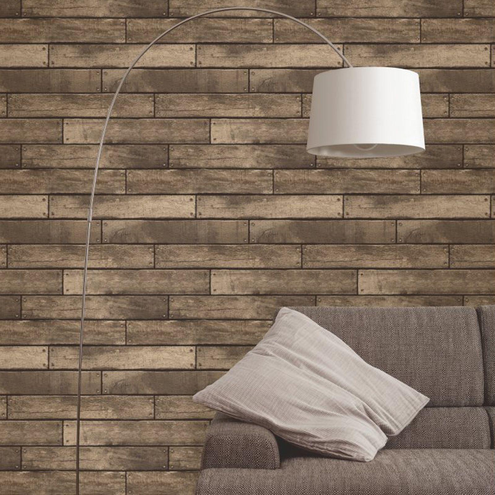 Fine decor luxury 10m effects wallpaper stone brick wood slate new