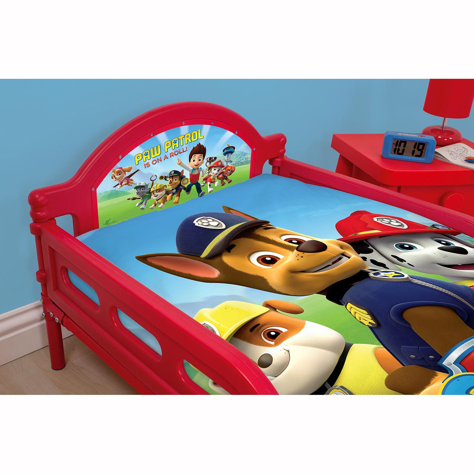 paw patrol rescue junior kleinkind bett mit oder ohne neue matratze ebay. Black Bedroom Furniture Sets. Home Design Ideas