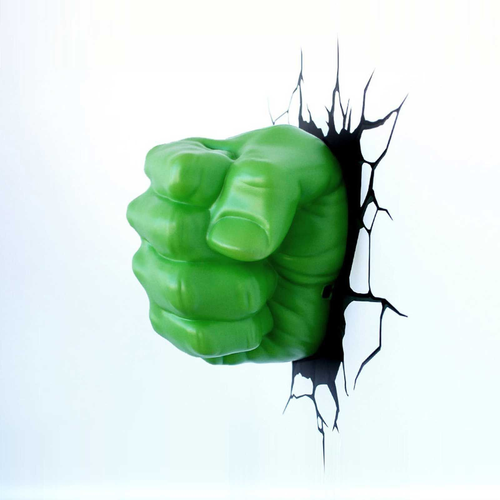 Marvel Wall Lights Hulk : MARVEL AVENGERS HULK FIST 3D LED WALL LIGHT NEW + STICKERS ROOM DECOR eBay
