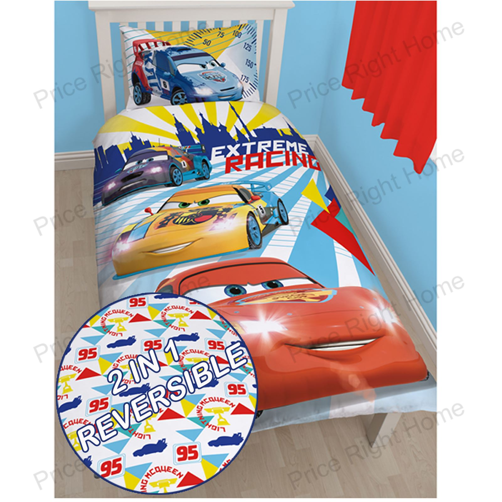 Details about DISNEY CARS 'CHAMP' SINGLE DUVET COVER NEW 2 IN 1 KIDS ...