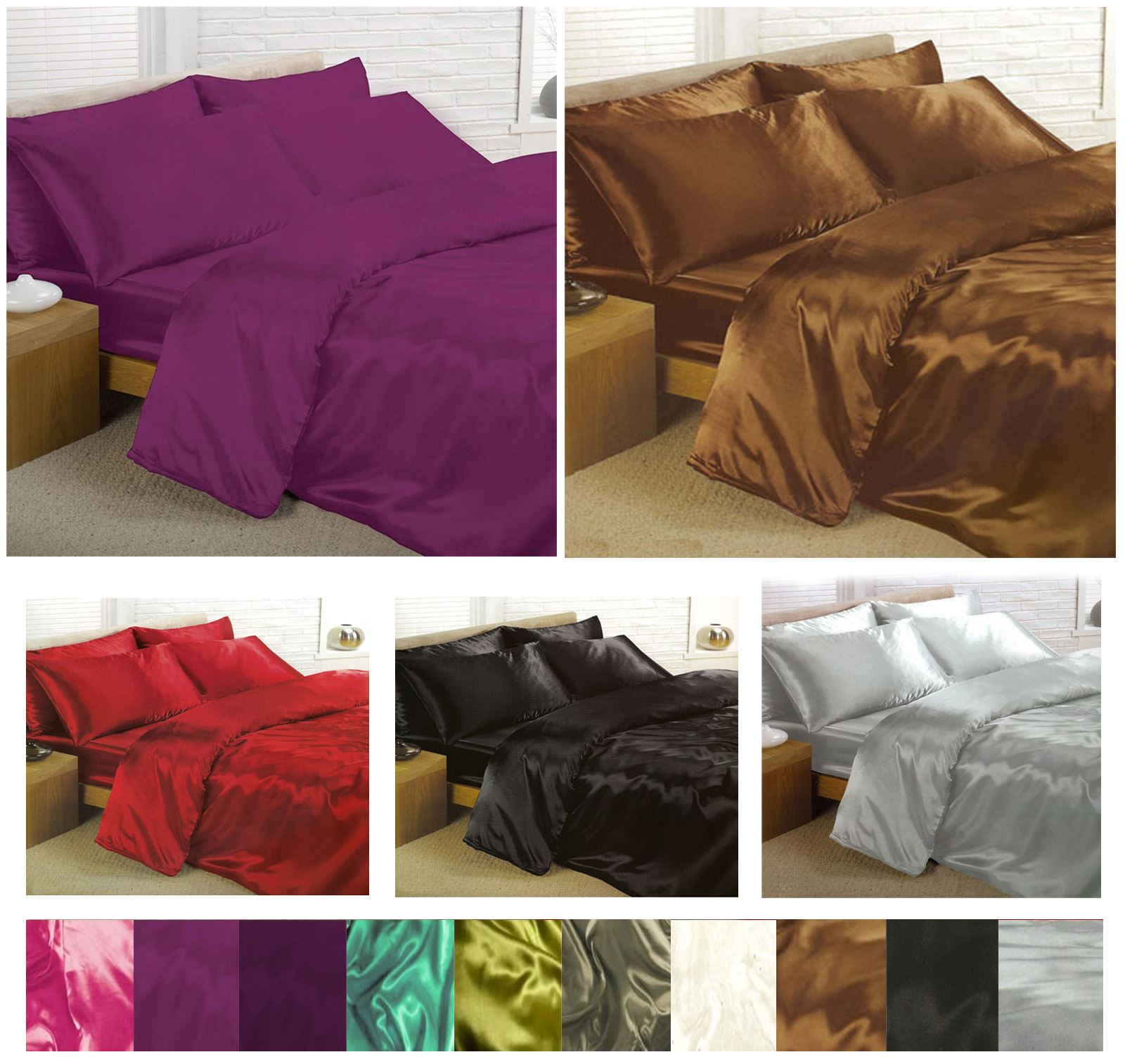 Satin-Bedding-Sets-6-Piece-Set-Duvet-Cover-Fitted-Sheet-Pillowcases