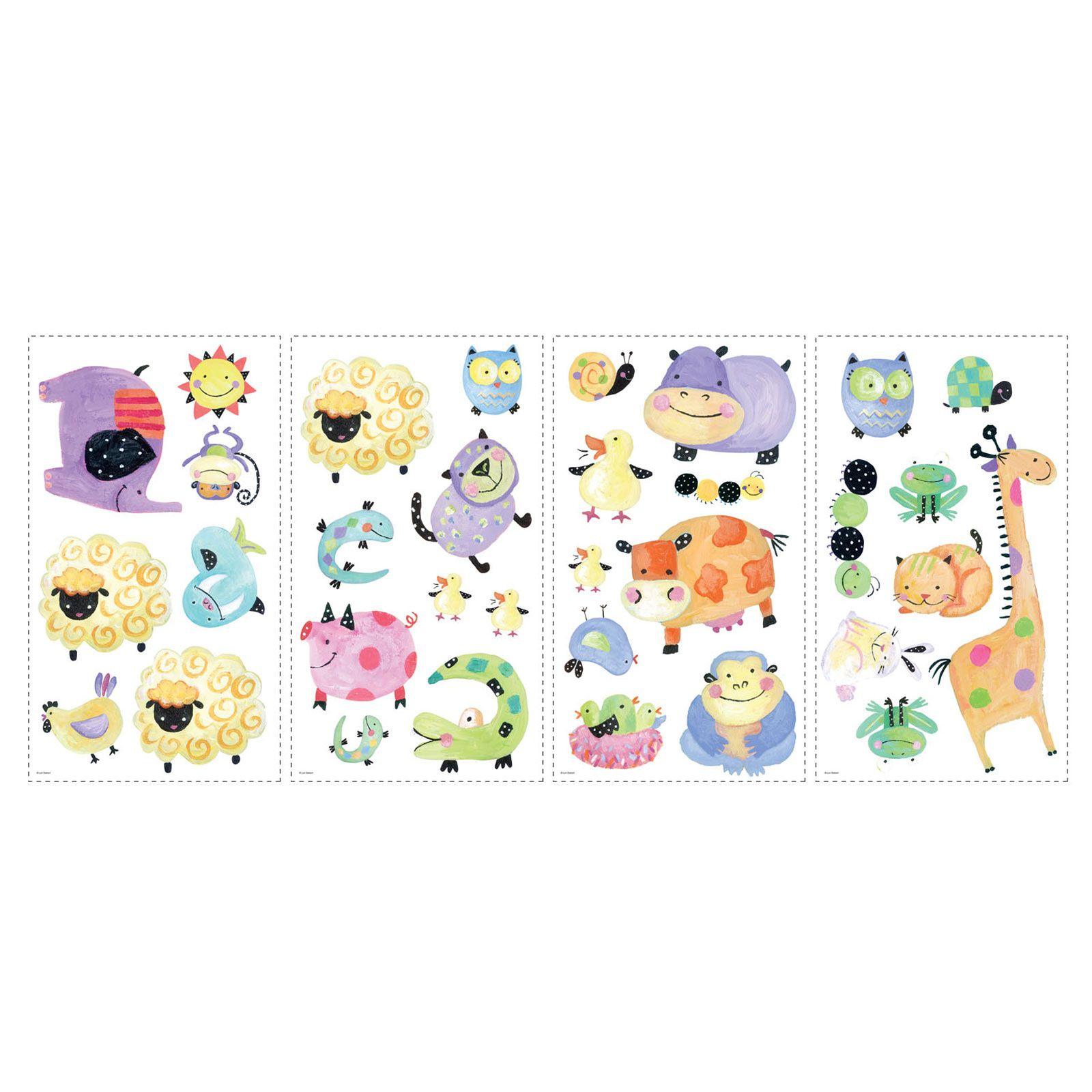 roommates polka dot animal piggy wall stickers kids