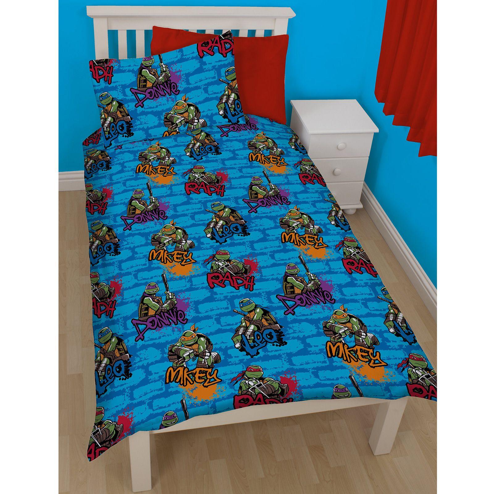 parure de lit adolescent tortues ninja mutant accessoires chambre. Black Bedroom Furniture Sets. Home Design Ideas
