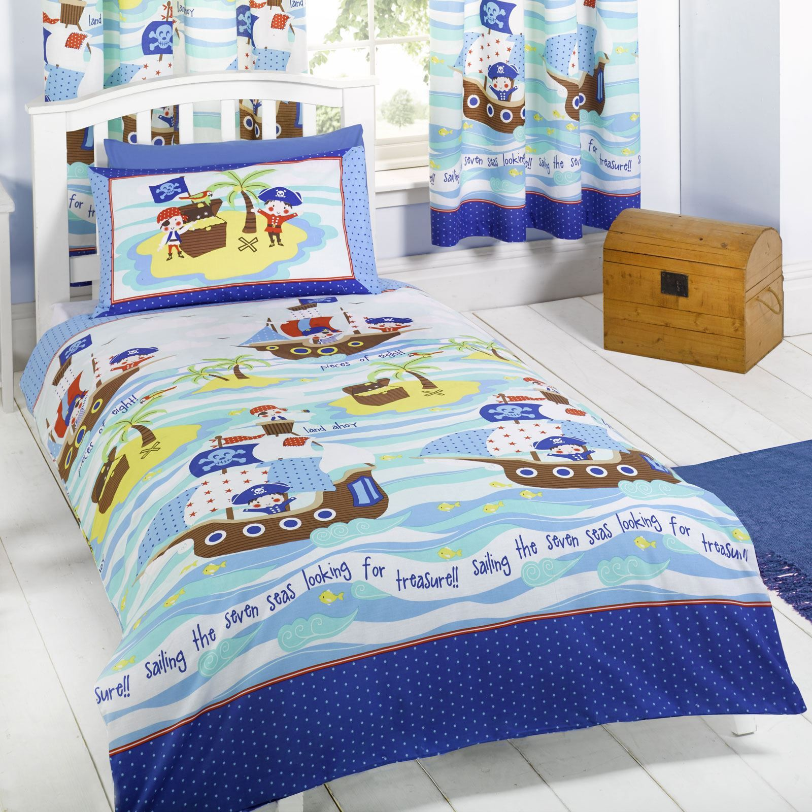 Seven seas pirates bedding bedroom accessories duvet for Bedroom accessories sets