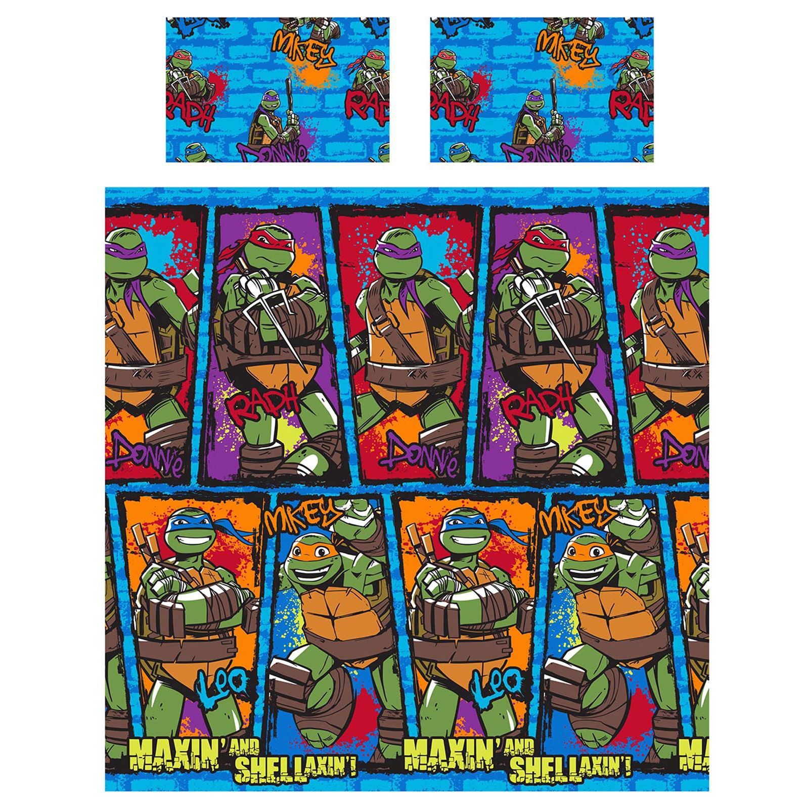 Ninja Turtle Bedroom Decor Teenage Mutant Ninja Turtles Bedding Single Duvet Cover Sets Boys