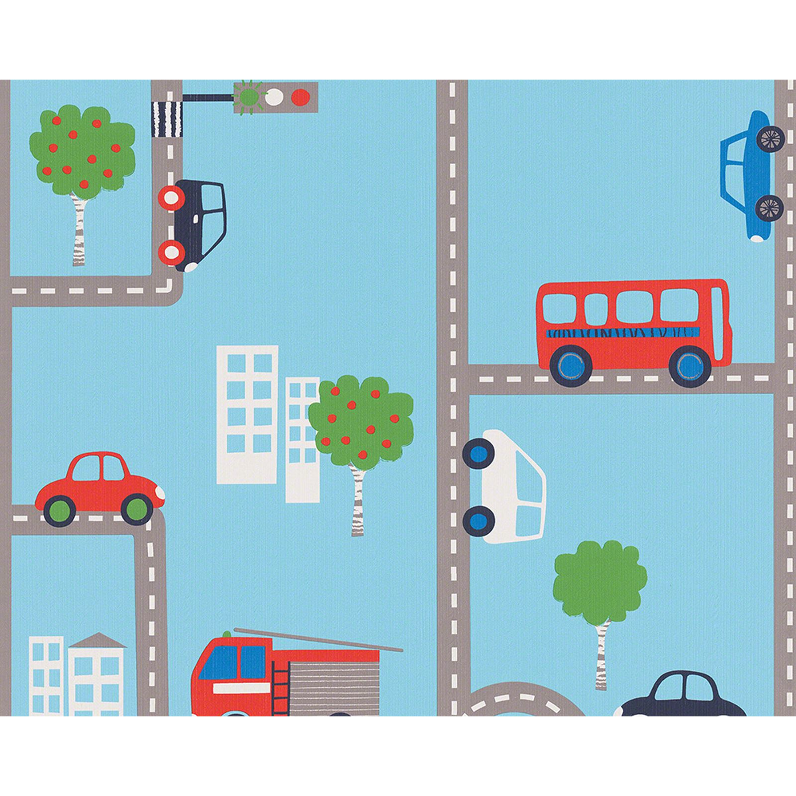 Baby Wall Stickers Ebay Blue Transport Wallpaper Rolls 93632 1 Cars Buses Kids