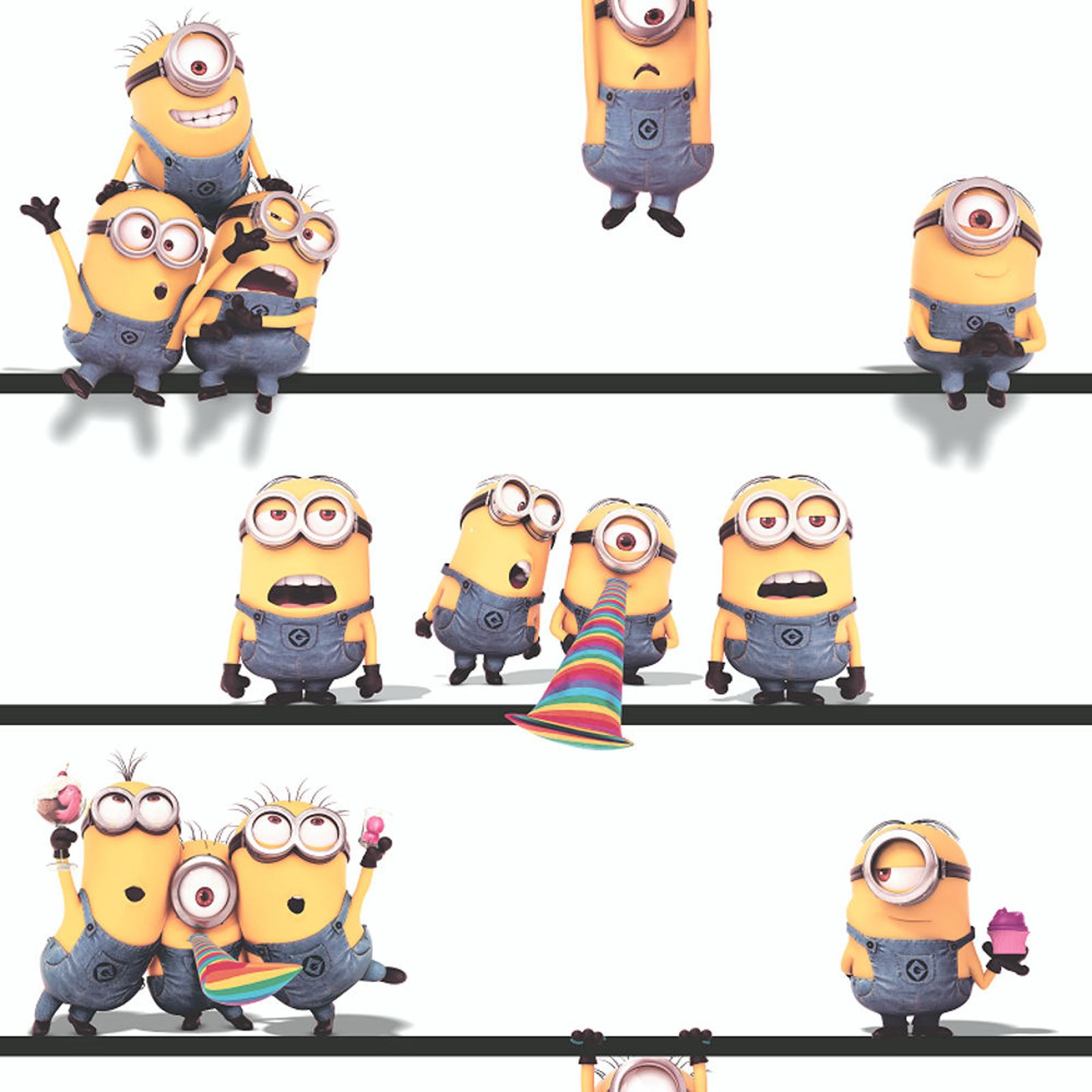 About despicable me minions 10m wallpaper kids bedroom new decor