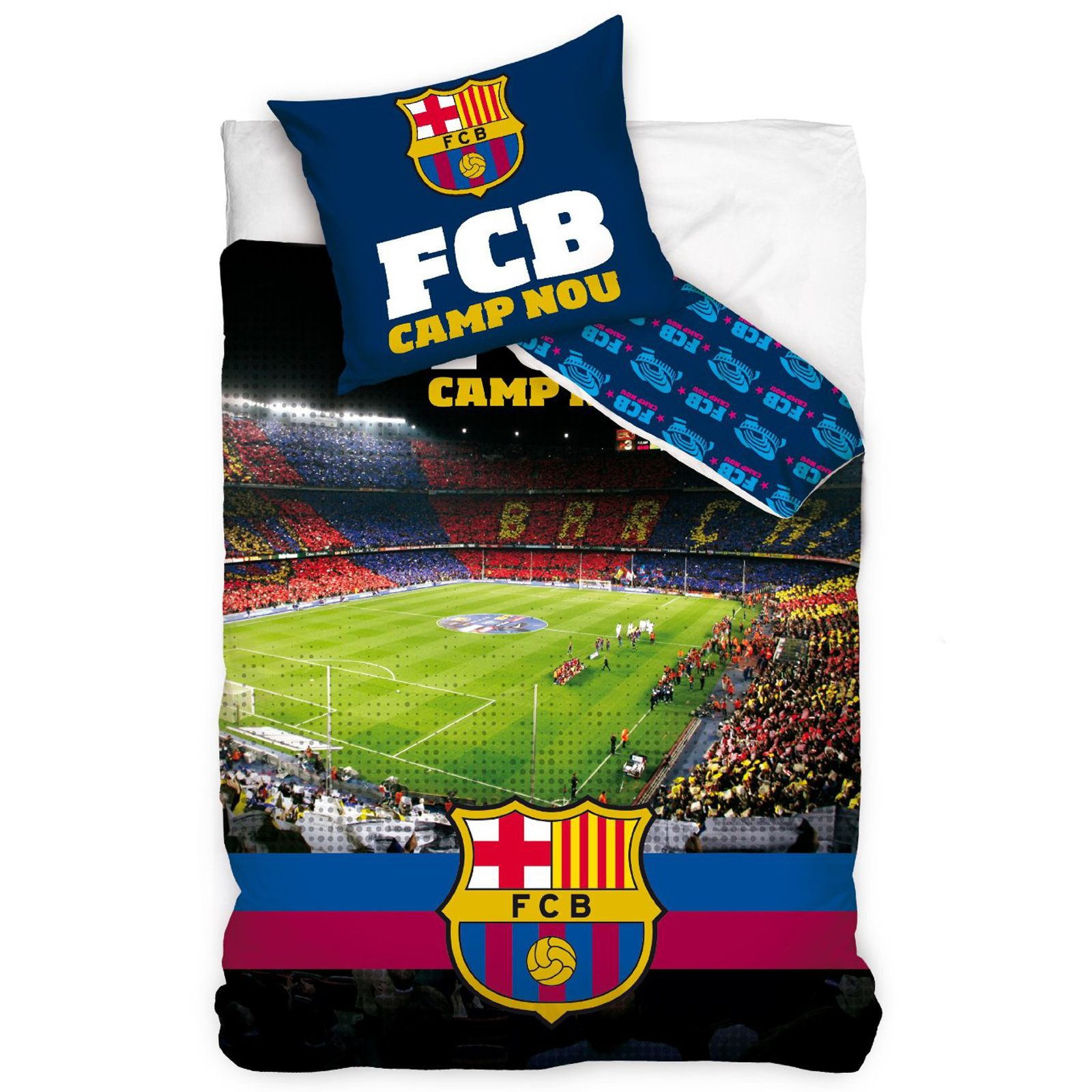 Official Fc Barcelona Single Duvet Covers Bedding Bedroom