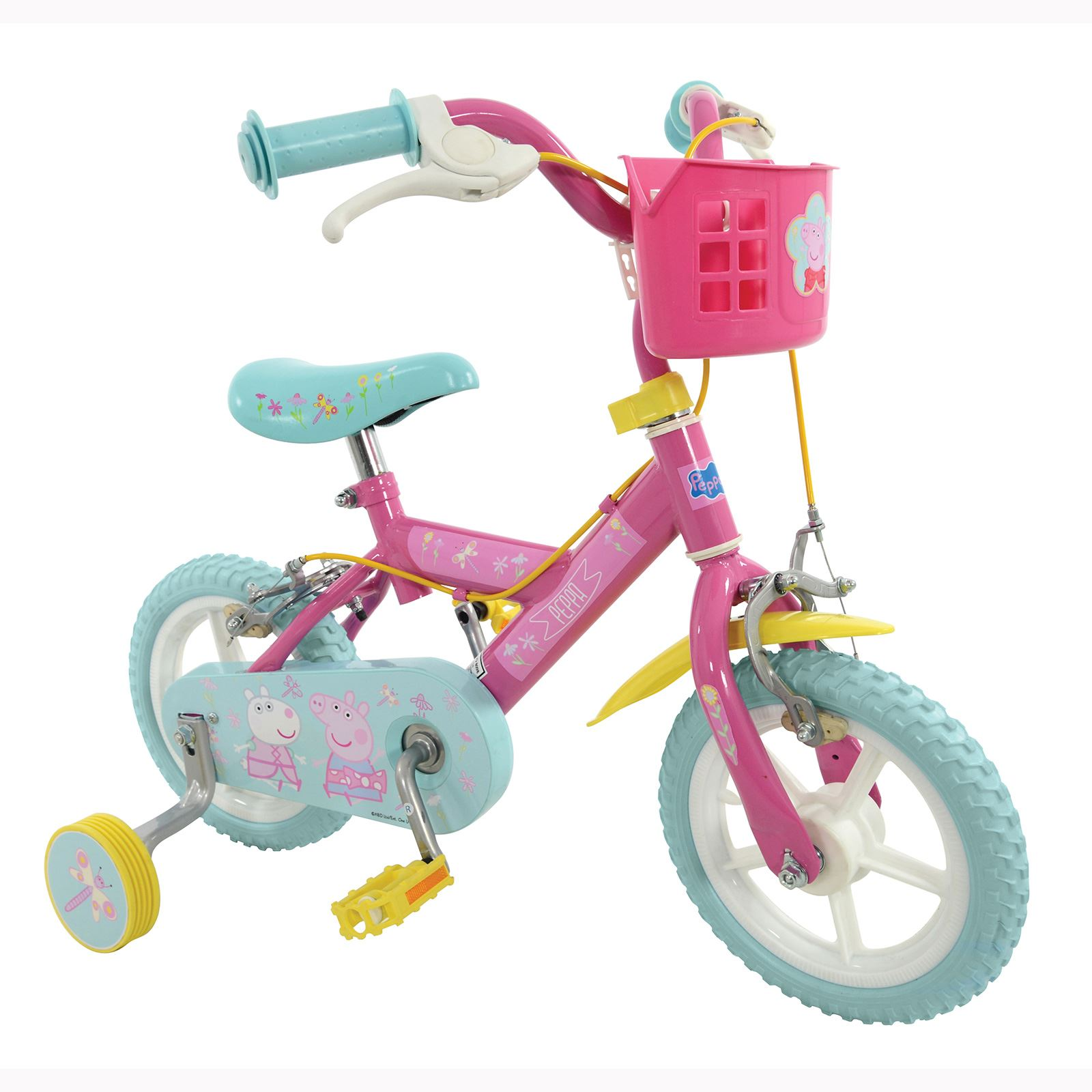 Details about peppa pig 12 quot bike bicycle girls pink with stabilisiers