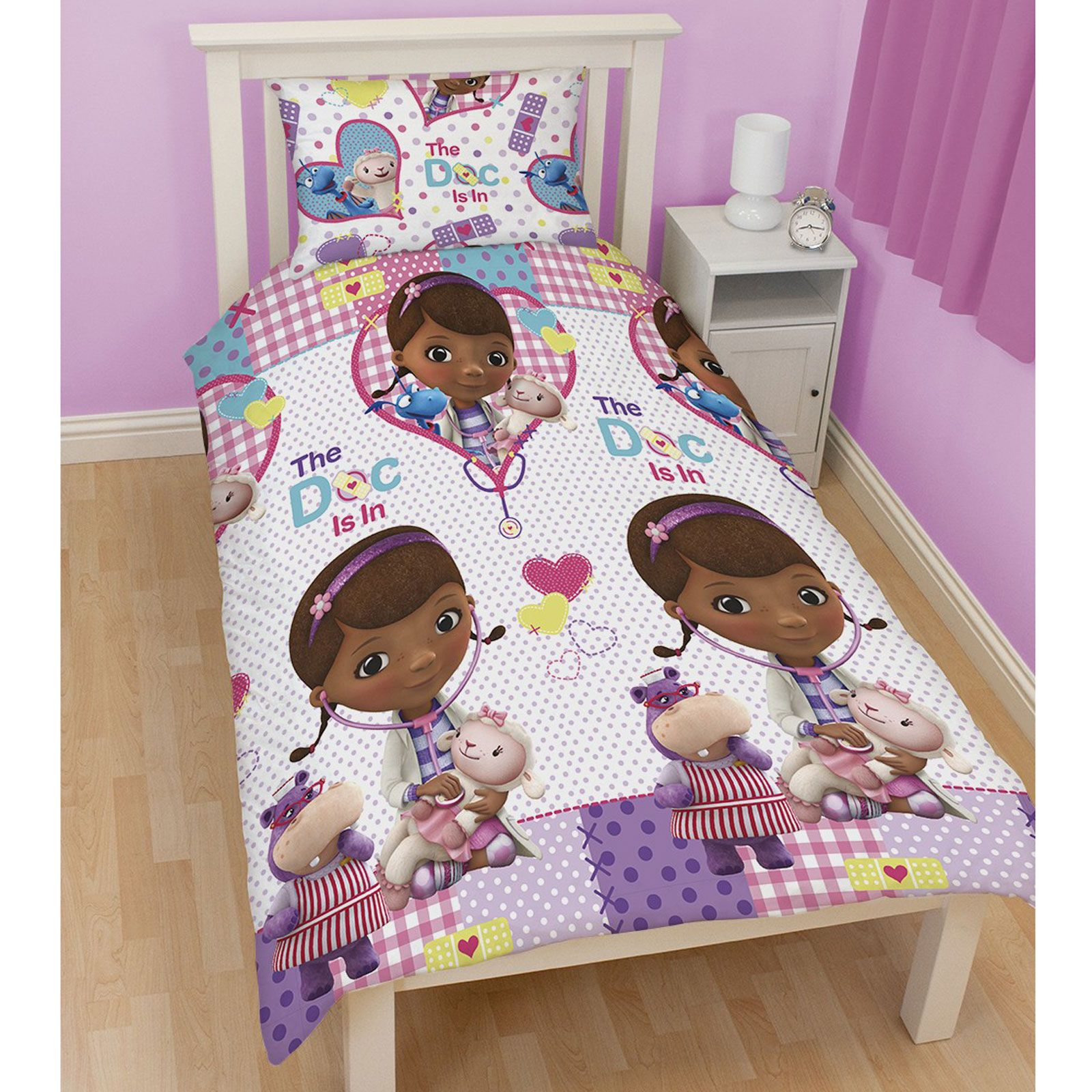 Doc Mcstuffins Bedding Single And Double Duvet Cover Sets