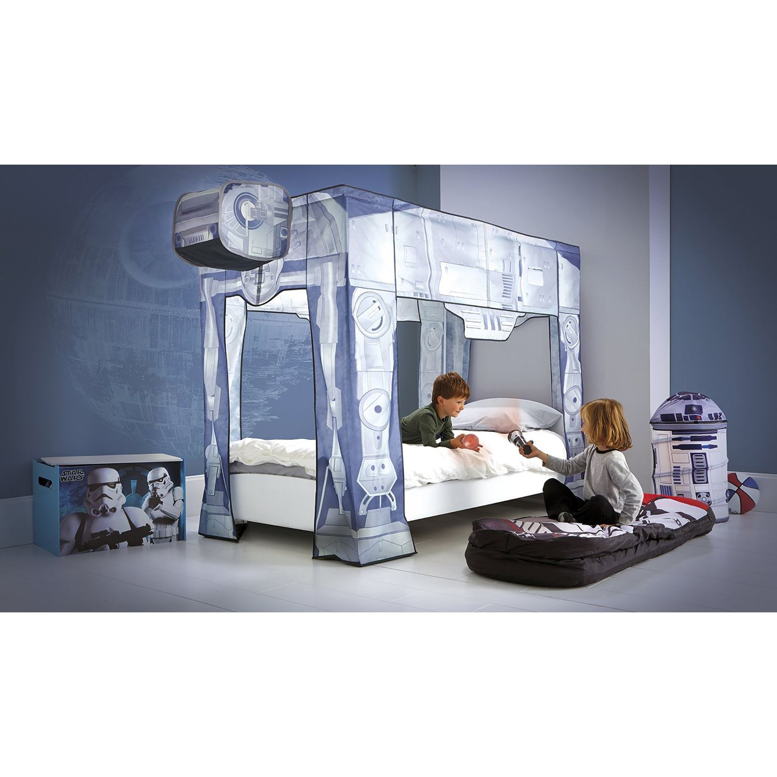 star wars bei bei einzelbett baldachin neu offiziell ebay. Black Bedroom Furniture Sets. Home Design Ideas