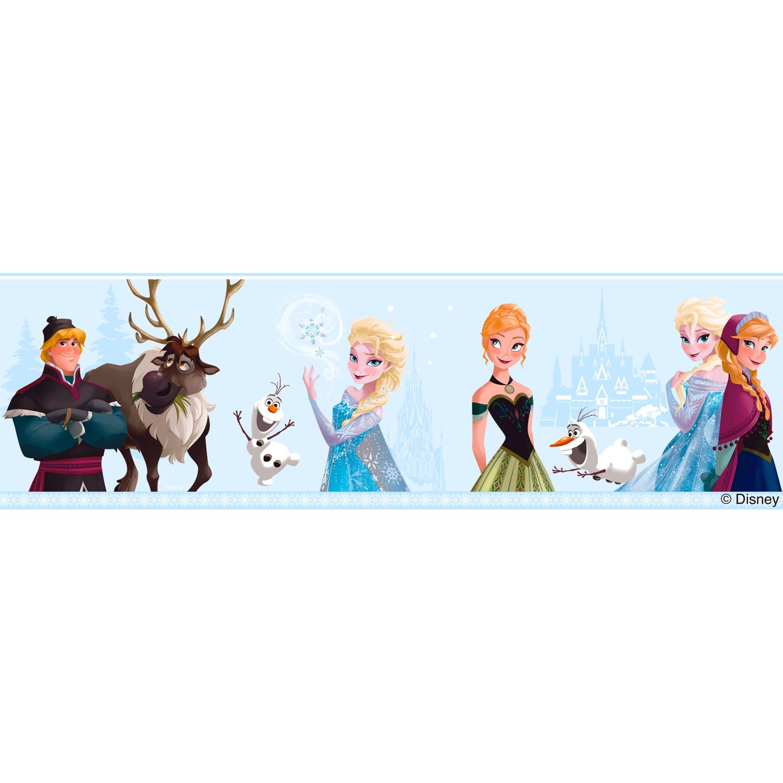 DISNEY FROZEN WALL DECOR INCLUDES WALLPAPER BORDERS AND