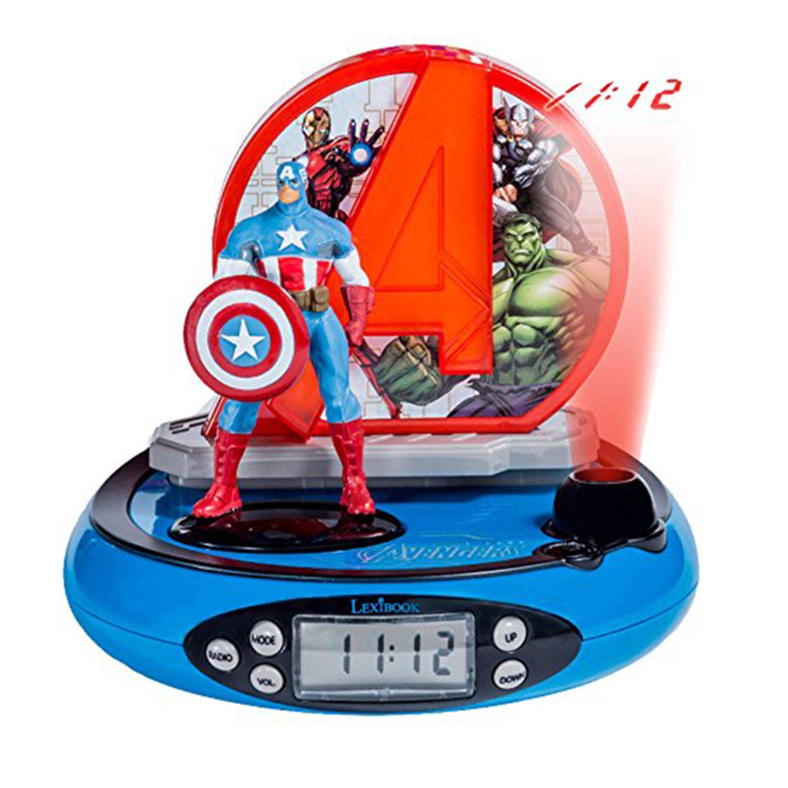 radio projector alarm clock childrens room avengers cars princess spiderman ebay. Black Bedroom Furniture Sets. Home Design Ideas