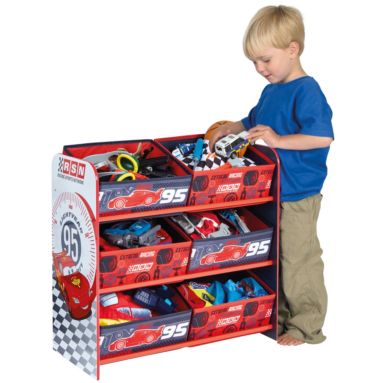 details about disney cars 6 bin storage bedroom furniture free p p