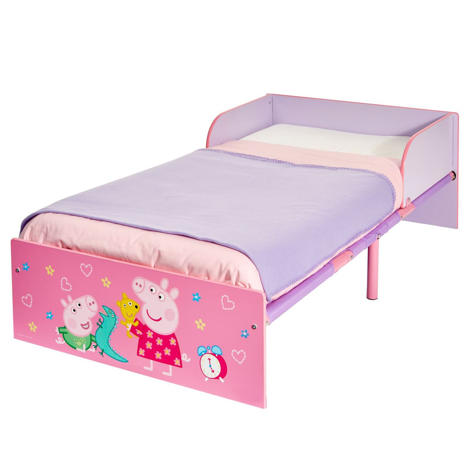 PEPPA PIG TODDLER BED WITH FULLY SPRUNG MATTRESS INCLUDED
