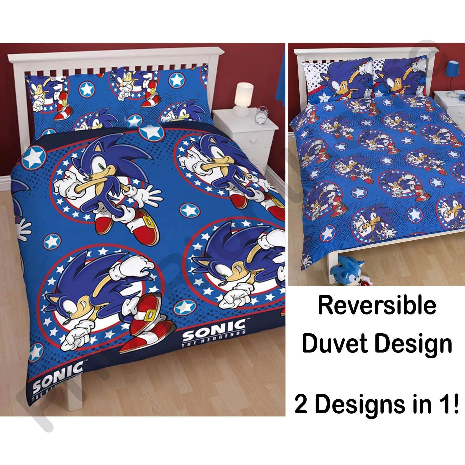 SONIC THE HEDGEHOG BEDROOM U2013 SINGLE + DOUBLE DUVET COVERS ... Item Specifics
