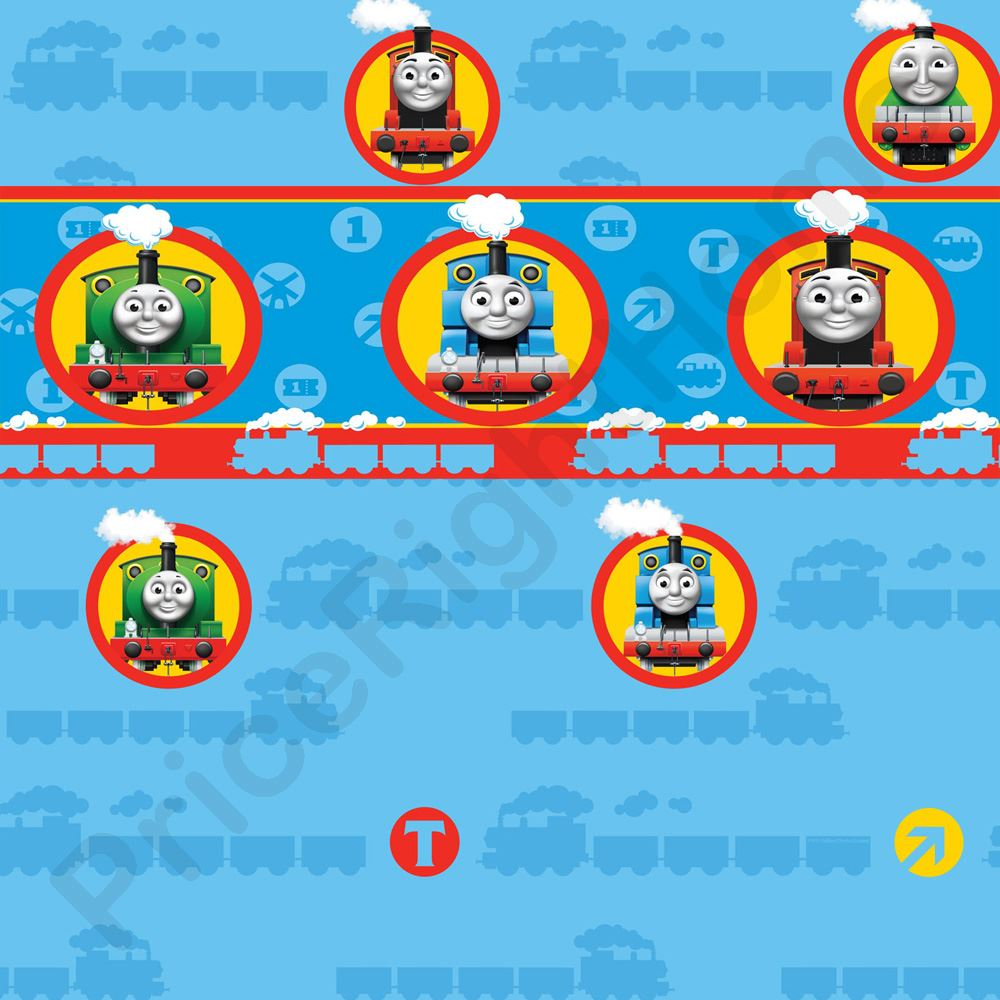 Selbstklebende Tapete Cars : Thomas the Tank Engine Wall Border