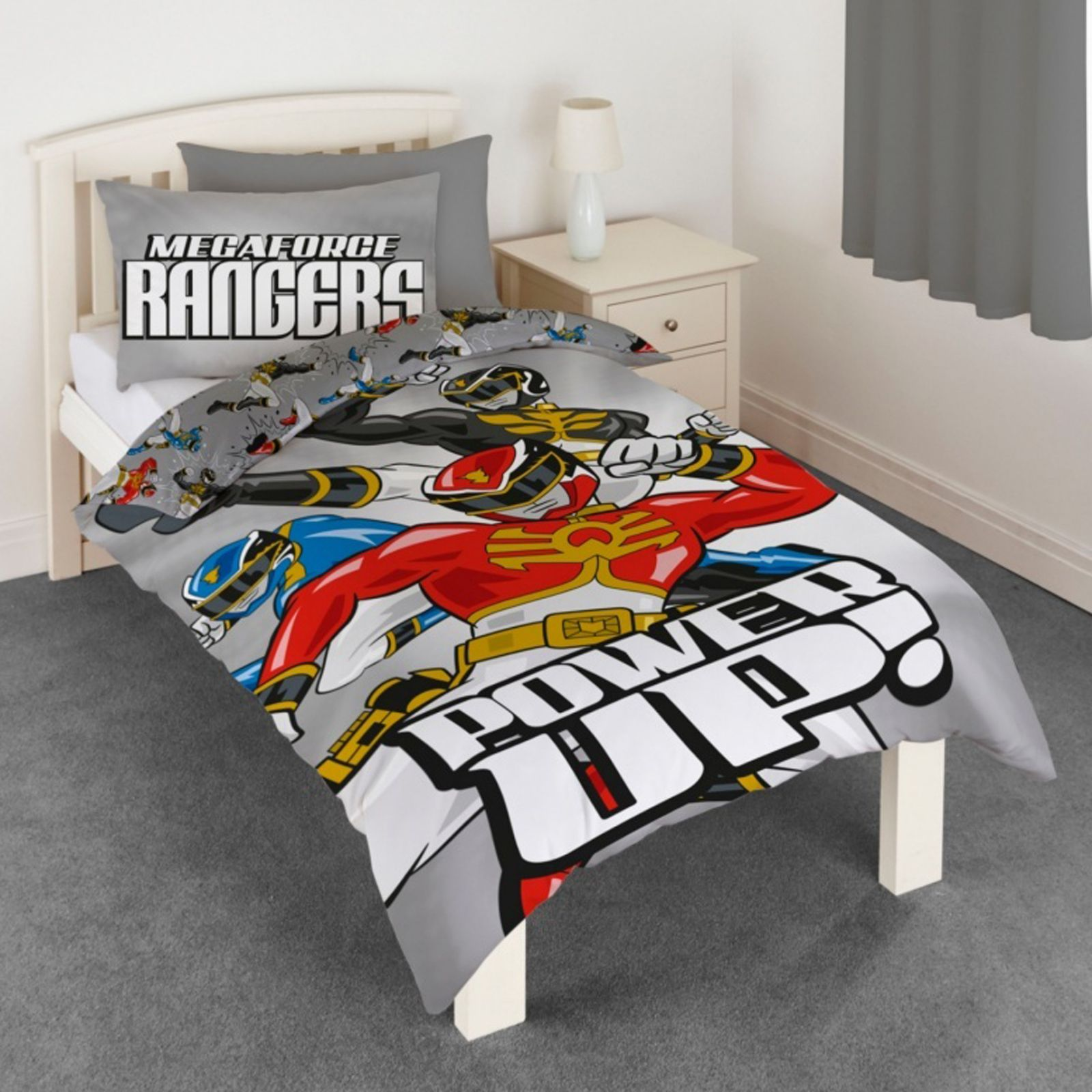 Power rangers megaforce housse couette lot gar ons parure for Housse duvet