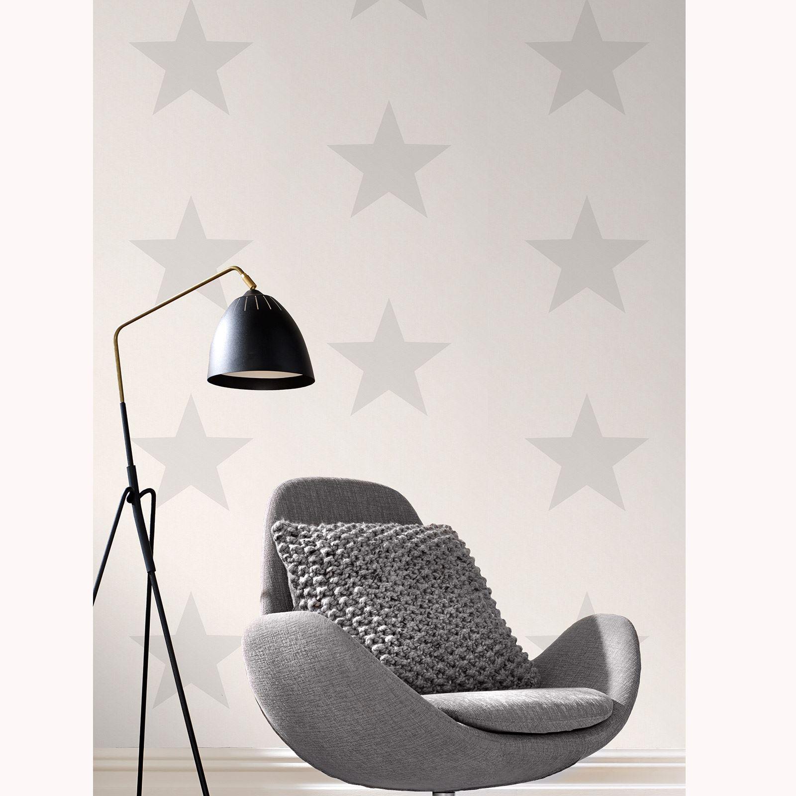 sterne tapete grau auf wei rasch 248135 ebay. Black Bedroom Furniture Sets. Home Design Ideas