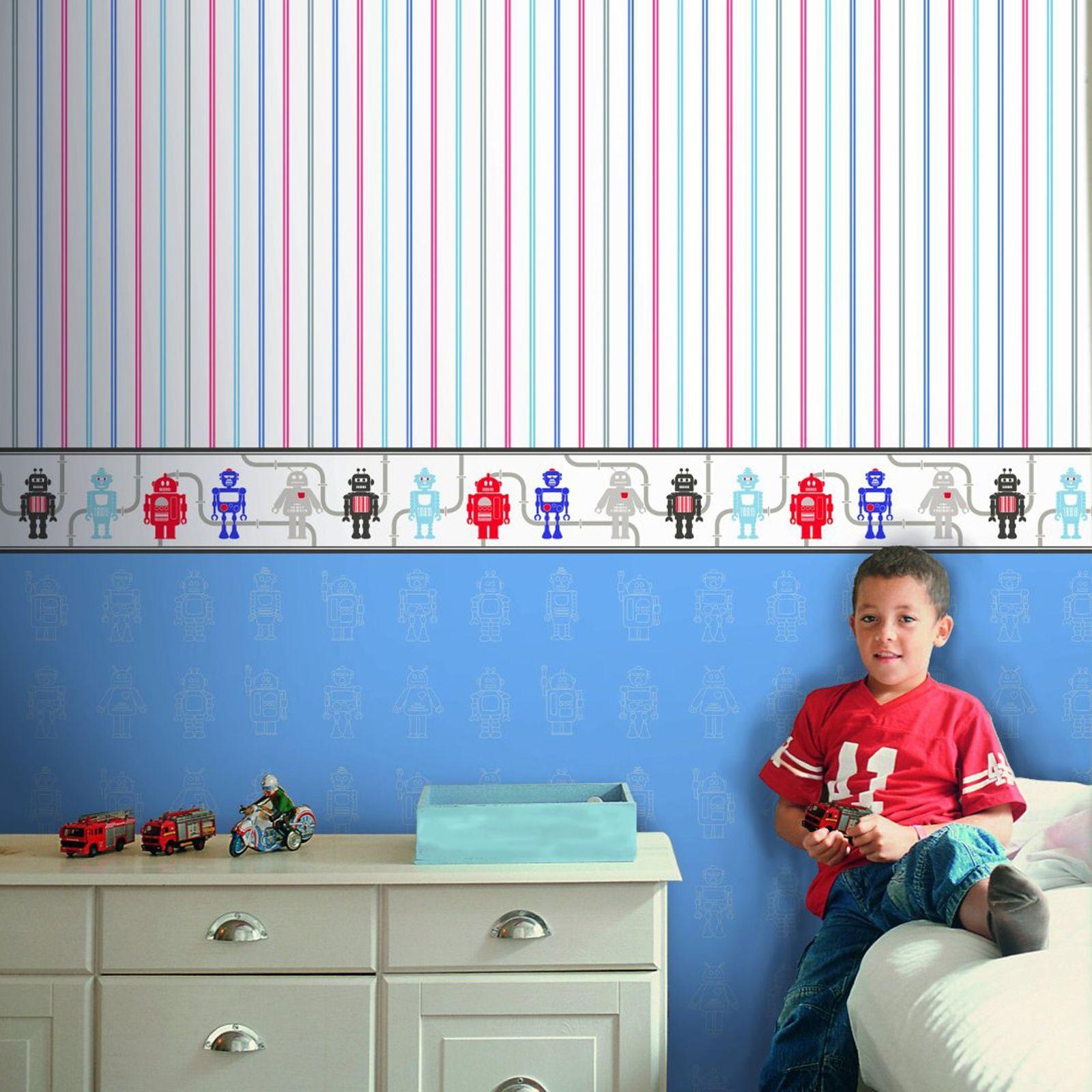 Boys Themed Wallpaper Borders Kids Bedroom Cars Dinosaur