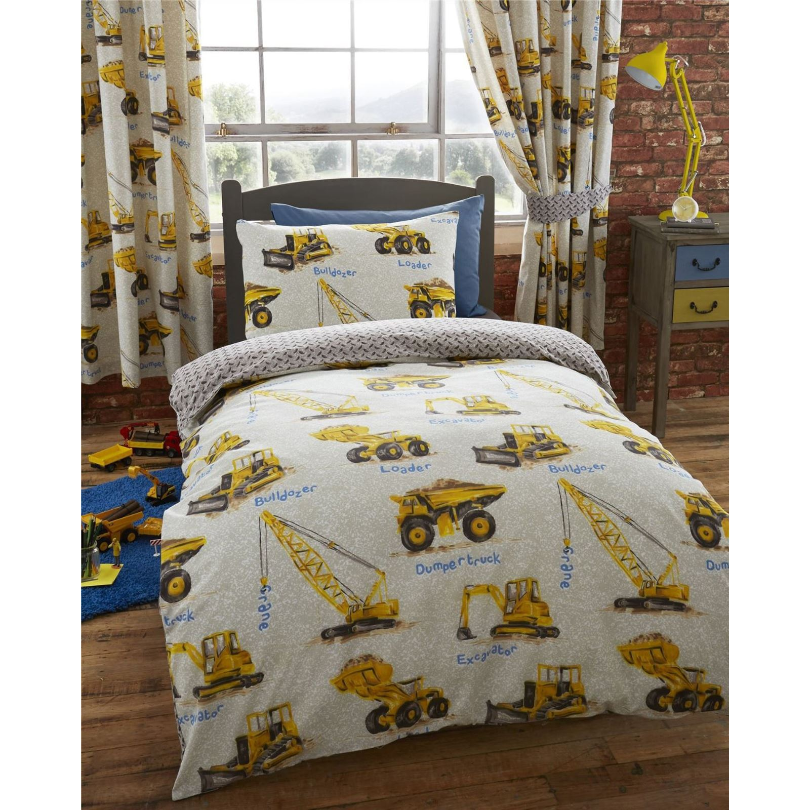 Construction duvet covers various designs available in for Drap housse double