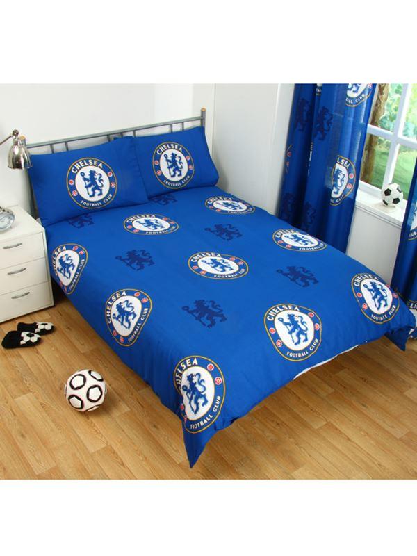 Chelsea fc set housse de couette double neuf official for Housse couette foot