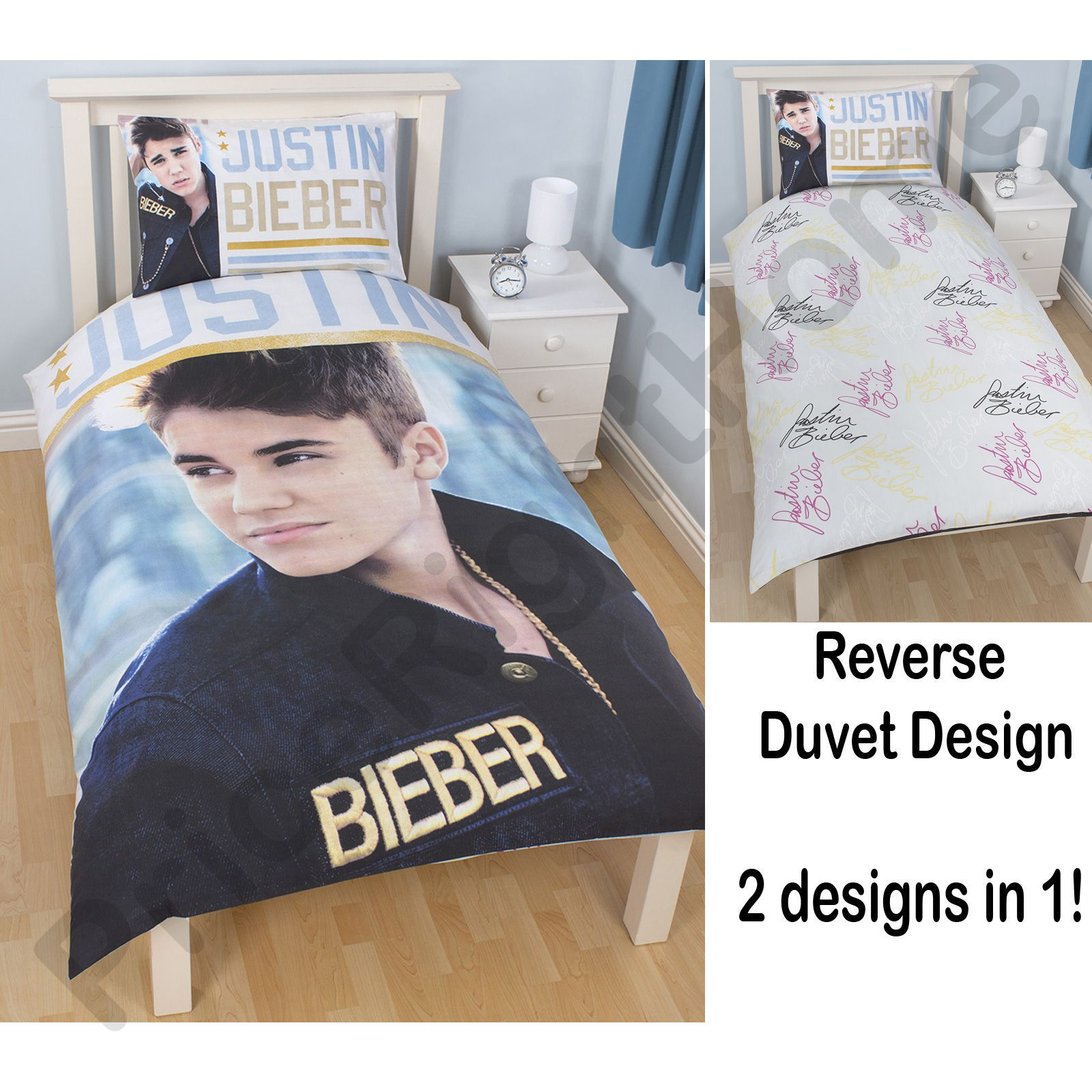 Justin bieber stars duvet cover set new official 2 in 1 for Justin bieber bedroom ideas