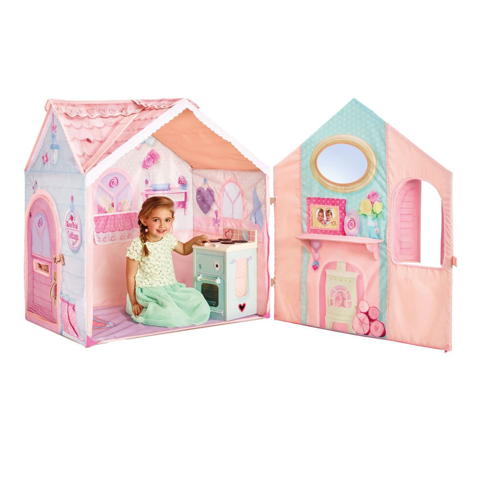 Dream Town Rose Petal Cottage Playset New Playhouse Ebay