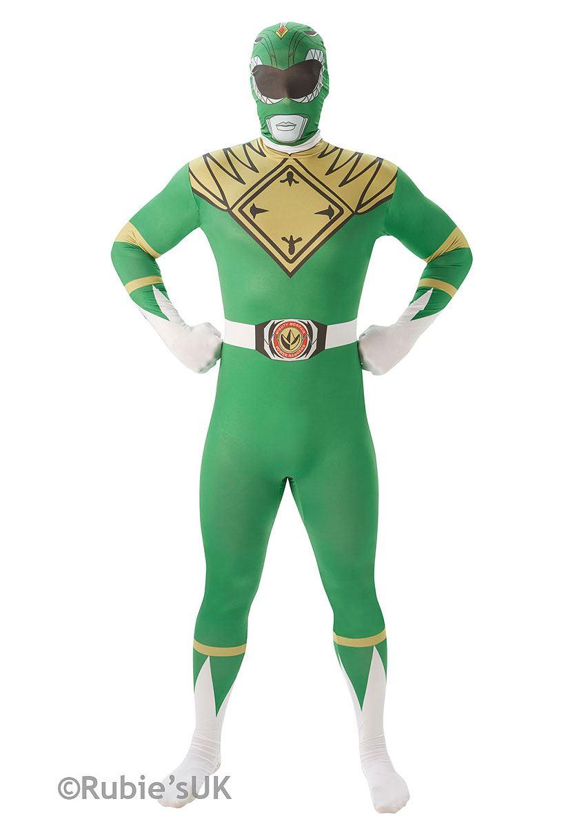 Mighty Morphin Power Ranger 80s TV 2nd Skin Adult Mens Ladies Costume